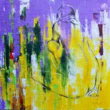 Tejinder Ladi Singh Paintings | Mixed-media Painting - Urban Jungle 14 by artist Tejinder Ladi Singh | ArtZolo.com