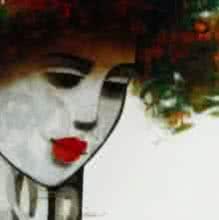 art, beauty, painting, canvas, acrylic, figurative