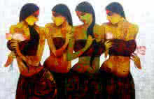art, beauty, painting, canvas, acrylic, figurative