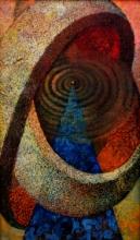 Abstract Acrylic Art Painting title Spiritual tune 3 by artist Arun Jana