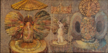Figurative Acrylic Art Painting title Spiritual Path by artist Arun Jana