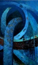 Abstract Acrylic Art Painting title Kolkata 2 by artist Arun Jana
