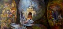 Realistic Acrylic Art Painting title Kolkata 3 by artist Arun Jana