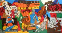 Mahabharata Series | Painting by artist M F husain | other | serigraph