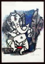 Dancing Ganesha(Ashtavinayak Series) | Painting by artist M F husain | other | serigraph