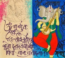 #abstract #ganesha #ganapathi #religious #