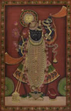 Sreenathji 2 - Pichwai Art | Painting by artist Artisan | other | Cloth