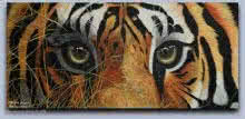 Animals Acrylic Art Painting title 'Tiger eyes' by artist Mahesh Jangam