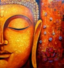 Toys Acrylic Art Painting title Buddha 5 by artist Arjun Das