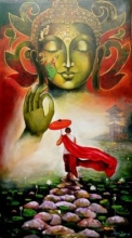 #buddha#god#monk#rain