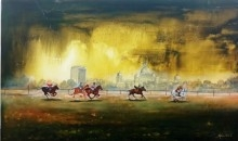 Kolkata Polo   Painting by artist Arjun Das   acrylic   Canvas
