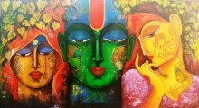 Meera Ke Krishna 6 | Painting by artist Arjun Das | acrylic | Canvas