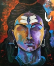 Shiva | Painting by artist Arjun Das | acrylic | Canvas