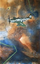 Transportation Acrylic Art Painting title 'Is It My Separate Land' by artist Govind Biswas