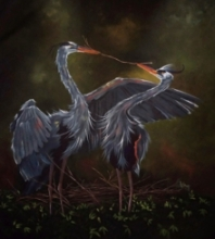 Animals Acrylic Art Painting title Love by artist Lisha N T