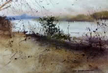 Landscape Watercolor Art Painting title 'Jim Corbet ( Uttar Pradesh )' by artist Kiran Gunjkar