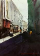 Cst (Bora Bazar) | Painting by artist Kiran Gunjkar | watercolor | Handmade Paper