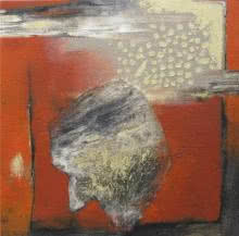 Pradip Kumar Sau | Acrylic Painting title Gaze In Abstract on Canvas | Artist Pradip Kumar Sau Gallery | ArtZolo.com