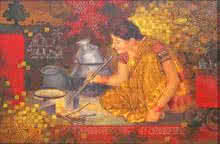 Pakakala | Painting by artist Baburao (amit) Awate | acrylic | Canvas