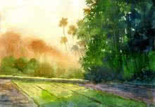 Landscape 5 | Painting by artist Vinayak Potdar | watercolor | Paper