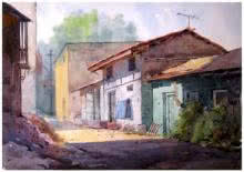Landscape 9 | Painting by artist Vinayak Potdar | watercolor | Paper