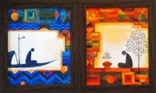 Untitled (Set of 2) | Painting by artist Ishani Pimpalkhare | acrylic | Canvas