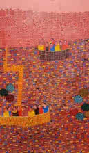 Cityscape 11 | Painting by artist Rama Krishna V | acrylic | Canvas