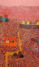 Cityscape 12 | Painting by artist Rama Krishna V | acrylic | Canvas
