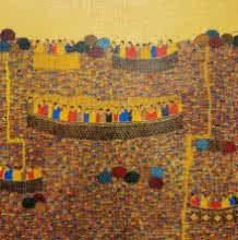 Rama Krishna V | Acrylic Painting title Cityscape 14 on Canvas | Artist Rama Krishna V Gallery | ArtZolo.com