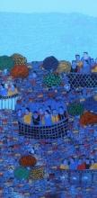 Cityscape 4 | Painting by artist Rama Krishna V | acrylic | Canvas
