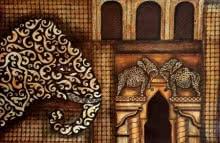 Animals Mixed-media Art Painting title 'Ancient Aura 4' by artist Sreya Gupta