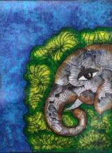 Sreya Gupta | Acrylic Painting title Gaja 11 1 on Canvas | Artist Sreya Gupta Gallery | ArtZolo.com