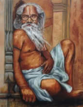 Figurative Oil Art Painting title 'Indian Culture' by artist Rajesh Gawhale