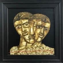 Faces 2   Painting by artist Laxman Aelay   acrylic   Canvas