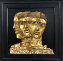 Faces 3   Painting by artist Laxman Aelay   acrylic   Canvas