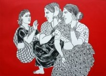 Song of Village 44 | Painting by artist Laxman Aelay | acrylic | Canvas