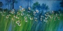 Wild Floral Beauty 1 | Painting by artist Swati Kale | oil | Canvas