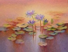 Purple Lilies | Painting by artist Swati Kale | oil | Canvas