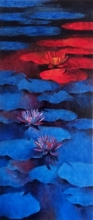Waterlilies 3 | Painting by artist Swati Kale | oil | Canvas