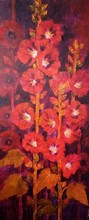 Nature Oil Art Painting title Waterlilies 4 by artist Swati Kale