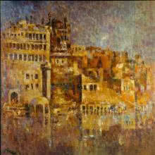 Ancient Castle I | Painting by artist Upendra Nayak | oil | Canvas
