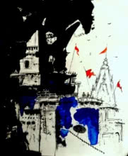 Banaras Drawing.2017 | Drawing by artist GIRISH CHANDRA VIDYARATNA | | others | Paper