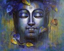Religious Acrylic Art Painting title 'Buddha 10' by artist Sanjay Lokhande