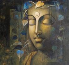 Religious Acrylic Art Painting title Buddha 5 by artist Sanjay Lokhande