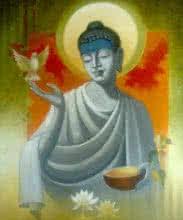 Figurative Acrylic Art Painting title 'Buddha Vigilance' by artist Sanjay Lokhande