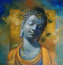 Gautama Buddha | Painting by artist Sanjay Lokhande | acrylic | Canvas