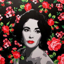 Figurative Acrylic Art Painting title Elizabeth Taylor by artist Sujit Karmakar