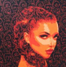 Pop Art Acrylic Art Painting title 'The Lady 2' by artist Sujit Karmakar