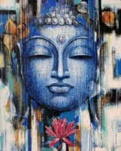 Gautama Buddha | Painting by artist Vishal Phasale | acrylic | Canvas