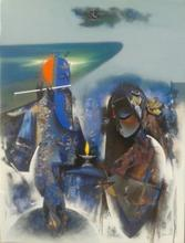 Lord Krishna | Painting by artist Vishal Phasale | acrylic | Canvas